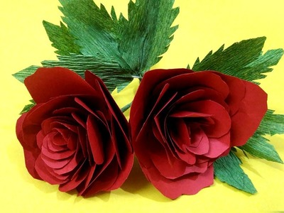 How to Create Realistic Red Rose with Paper I DIY | Crafts Now #newyear