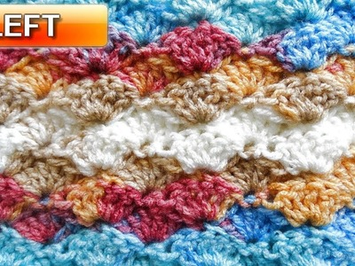 How to Crochet the Shell Stitch - Left Handed Crochet Tutorial