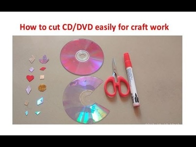 How to cut CD.DVD Easily for CRAFT WORK