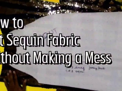 How to Cut Sequin Fabric Without Making a Mess | FashionMadeLive