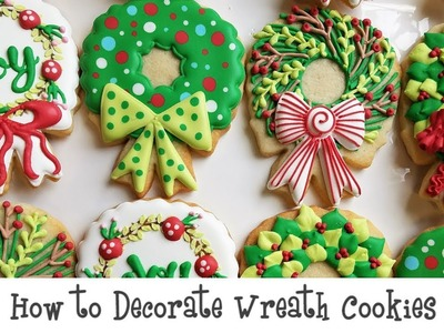 How to Decorate Holiday Wreath Cookies