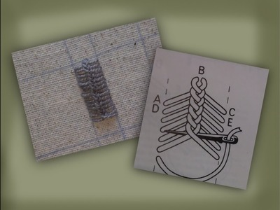 How to embroider with vandyke stitch