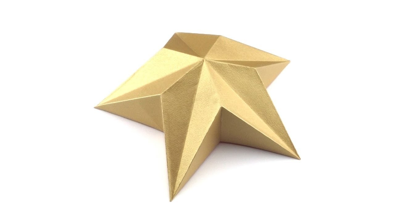 How to fold an origami star for Christmas tree topper (Hyo Ahn)