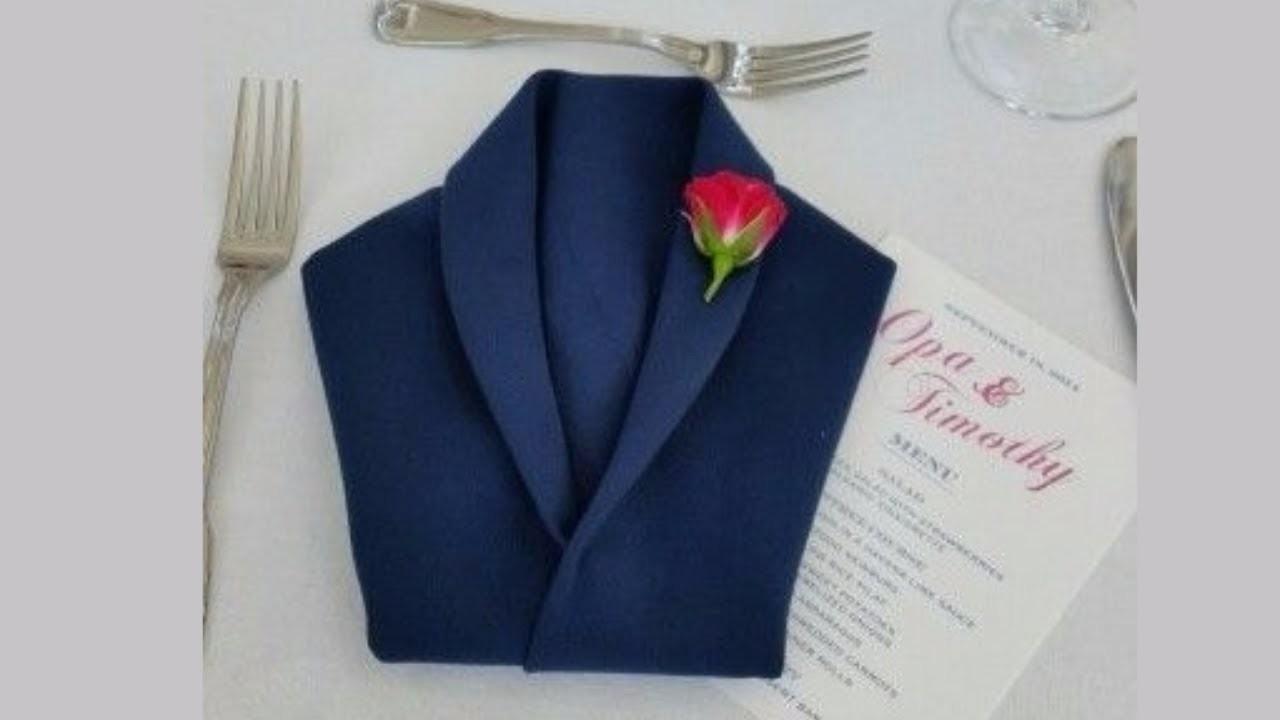 How To Fold Party Napkins - Jacket Napkin Folding