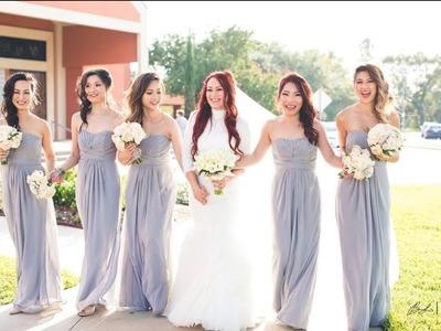 How to hem chiffon : Bridesmaid Dress