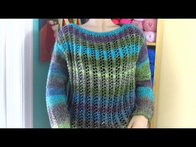 How to knit a sweater for adult