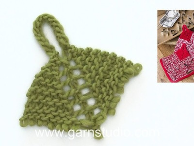 How to knit the potholders in DROPS Extra 0-1405