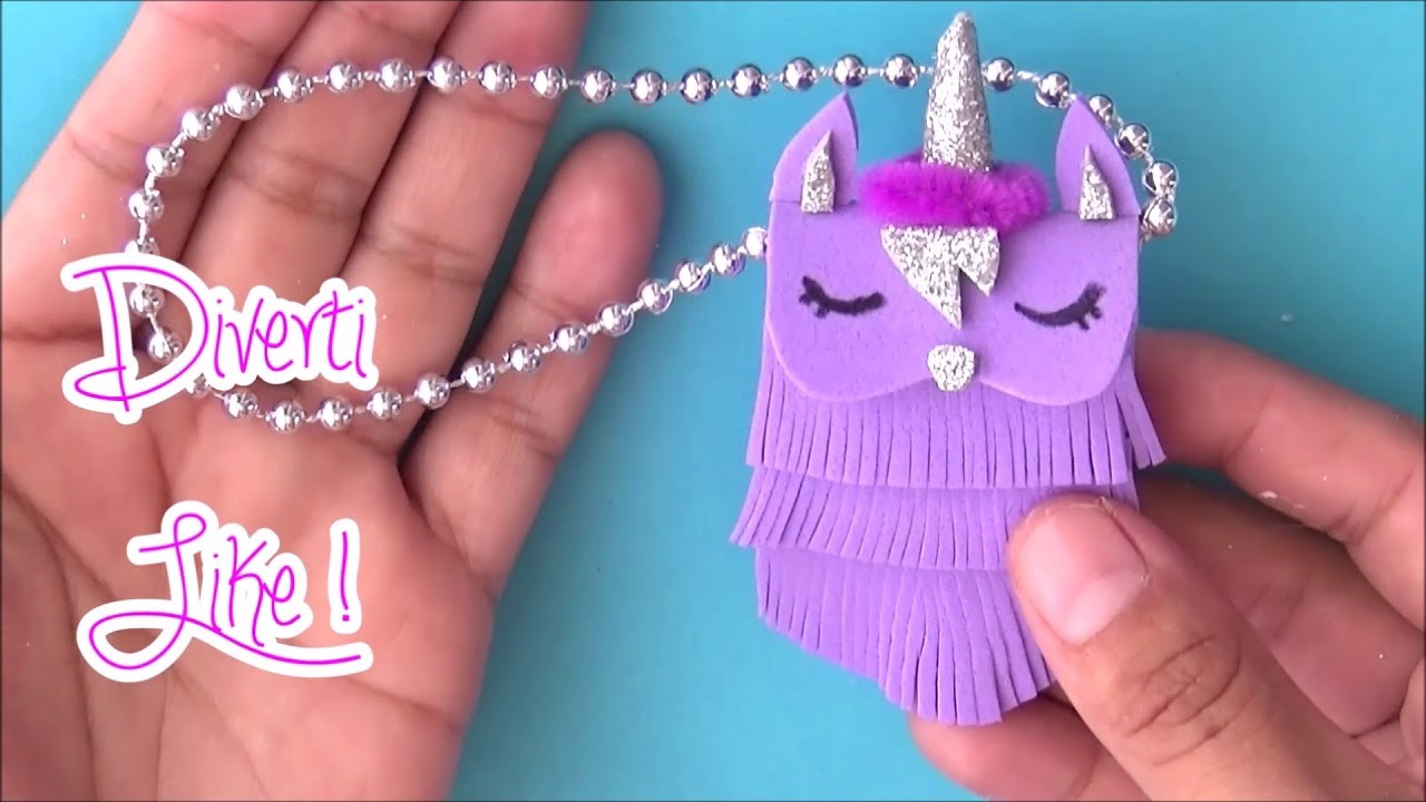 How to make 2 BAGS for your Barbie. Unicorn BAG and casual BAG