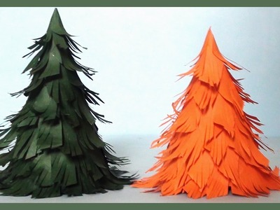 How to make 3D Paper Christmas Tree | Do it Yourself Paper Crafts