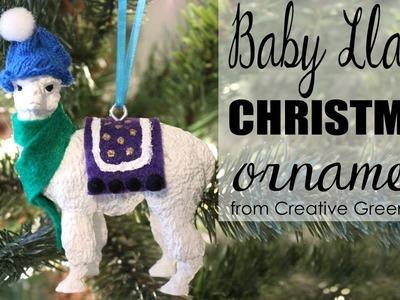 How to Make a Baby Llama Christmas Ornament