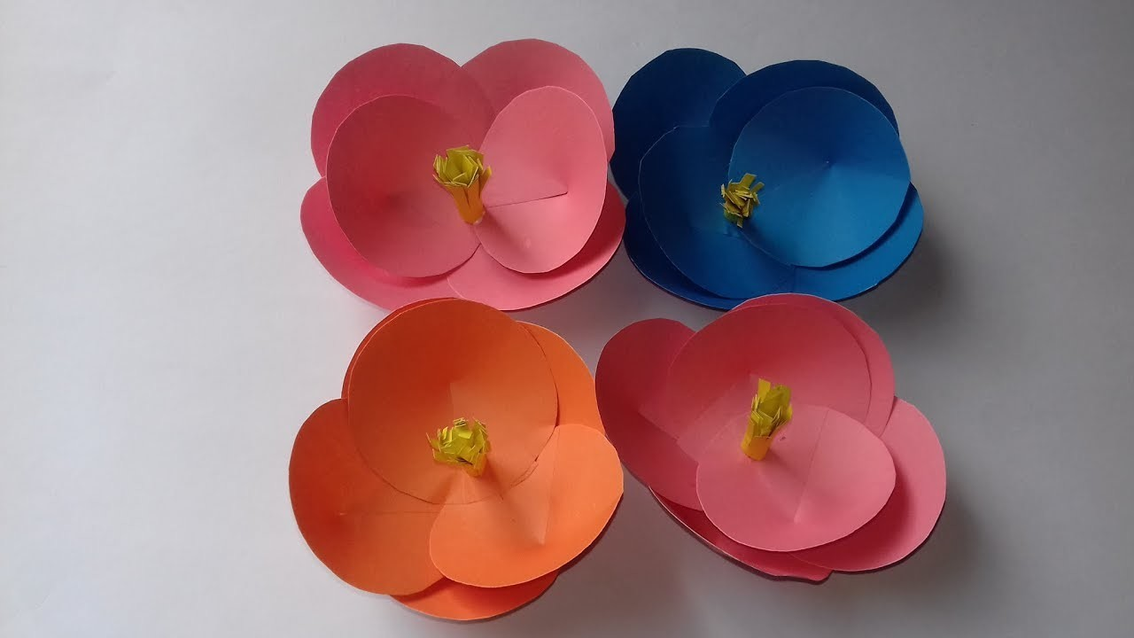 How To Make A Beautiful Paper Flower Easy And Simple Origami