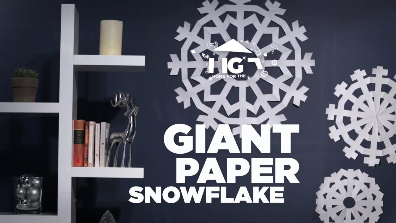 How to make a big snowflake