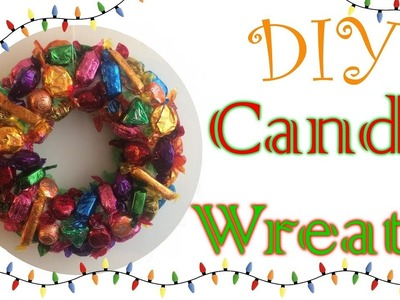 How To Make A Christmas Candy Wreath - Collab with Beadaholic94
