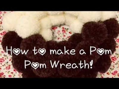 How To Make A Christmas Pudding Pom Pom Wreath