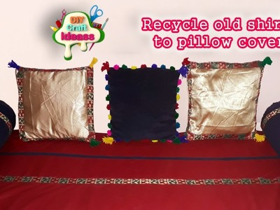 How to make a deco pillow with recycled T-shirt - Easy method II DIY Craft Ideas