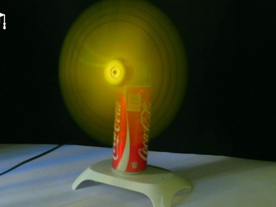 How to make a electric table fan using coca-cola can   Simple DIY craft