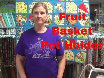 How to make a fruit basket pot holder.