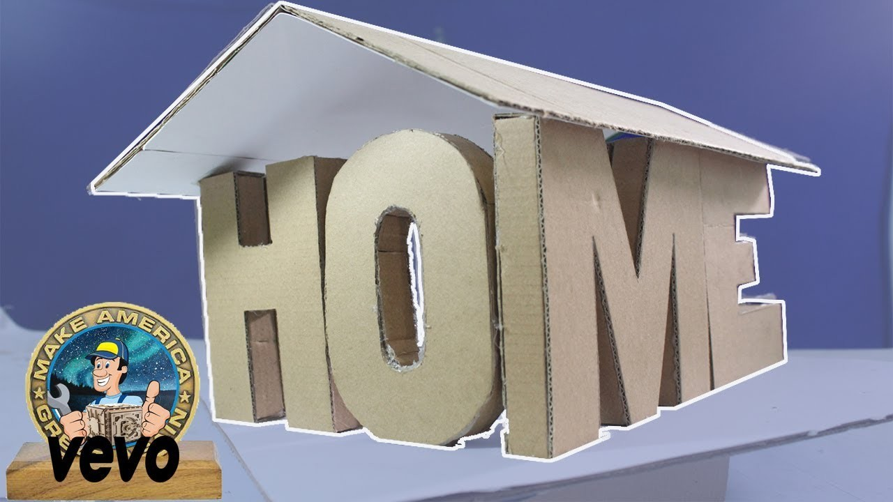 How To Make A House Out Of Cardboard Box Easy Build Cat Craft New Tour