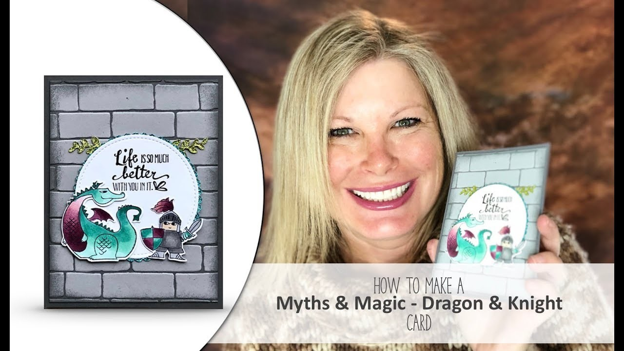 How to make a Knight & Dragon Castle Card featuring Stampin Up Magical Day Bundle