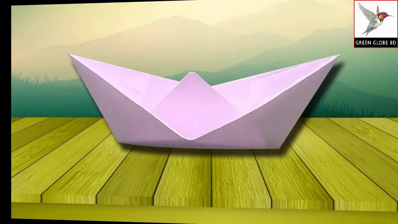 How to make a paper boat & floats. Origami boat
