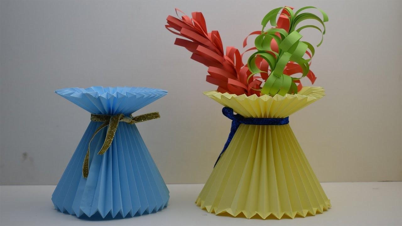 Make a paper flower vase vatozozdevelopment make mightylinksfo