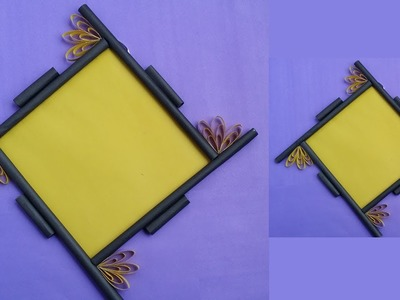 How to Make a Paper Photo Frame !! Easy Photo Frame Tutorial for Birthday Gift.Room Decoration !!!