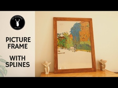 How to make a picture frame with corner splines