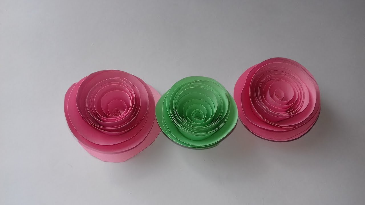 How To Make A Rolled Paper Roses Quality Paper Flower For