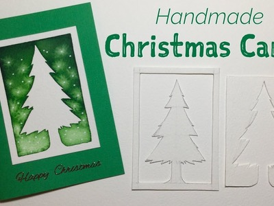 How to make a simple Christmas Card - Tree design and template!