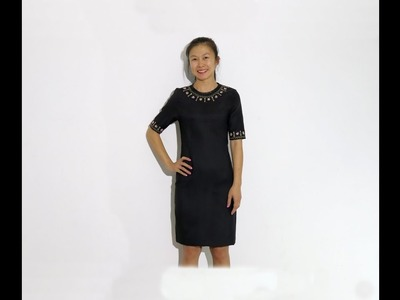 How to Make a Simple Dress With Embroidery On It.(part 3 Final Sewing}