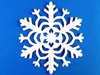How to make a snowflake out of paper. Make snowflakes out of paper