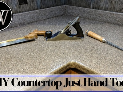 How to Make a Solid Surface Countertop With Just Hand Tools - Corian