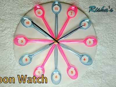 How to Make a Spoon Watch.Wall Decoration.Best of waste Ideas