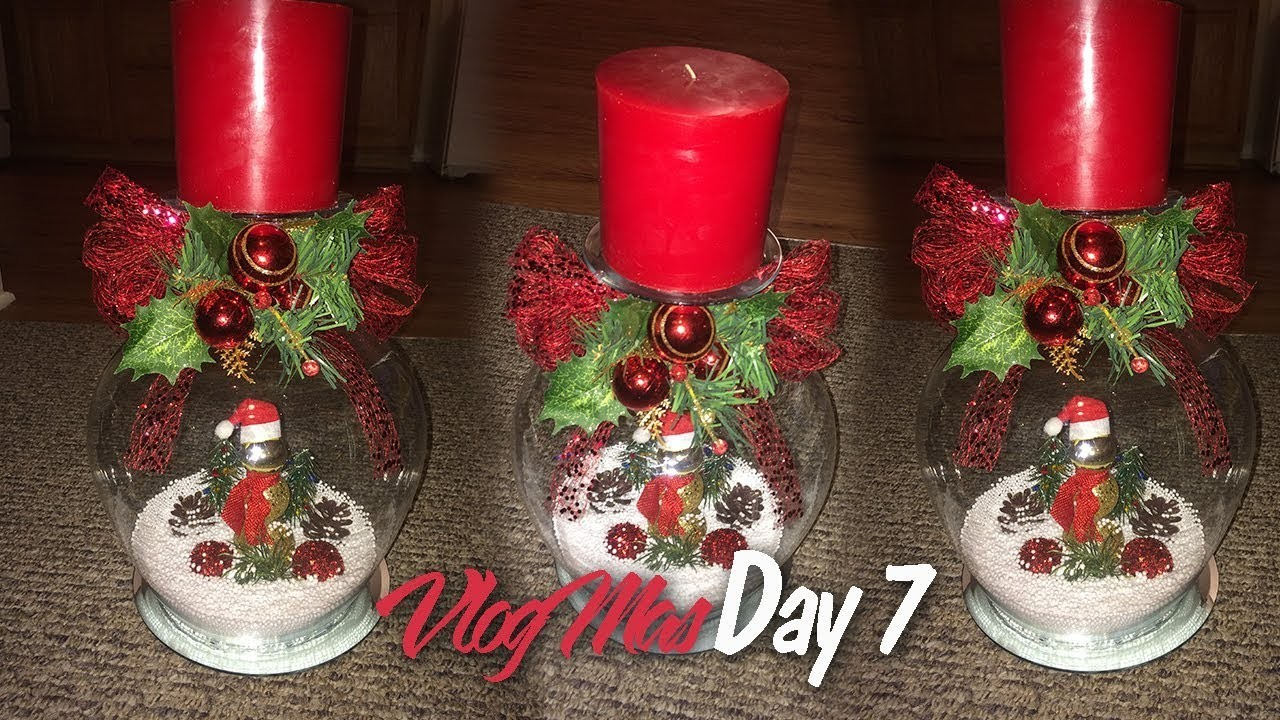 How to make a Wine Glass Snow Globe VLOGMAS DAY 7