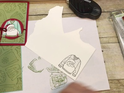 How to make an adorable Christmas card with Stampin Blends!