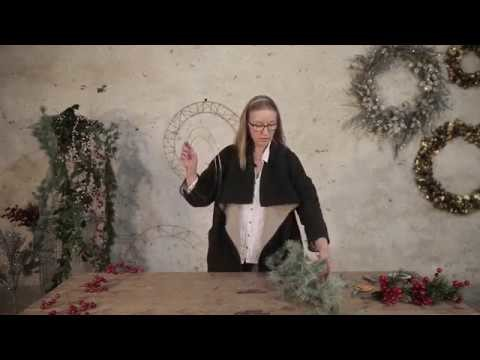 How to make an artificial Christmas wreath
