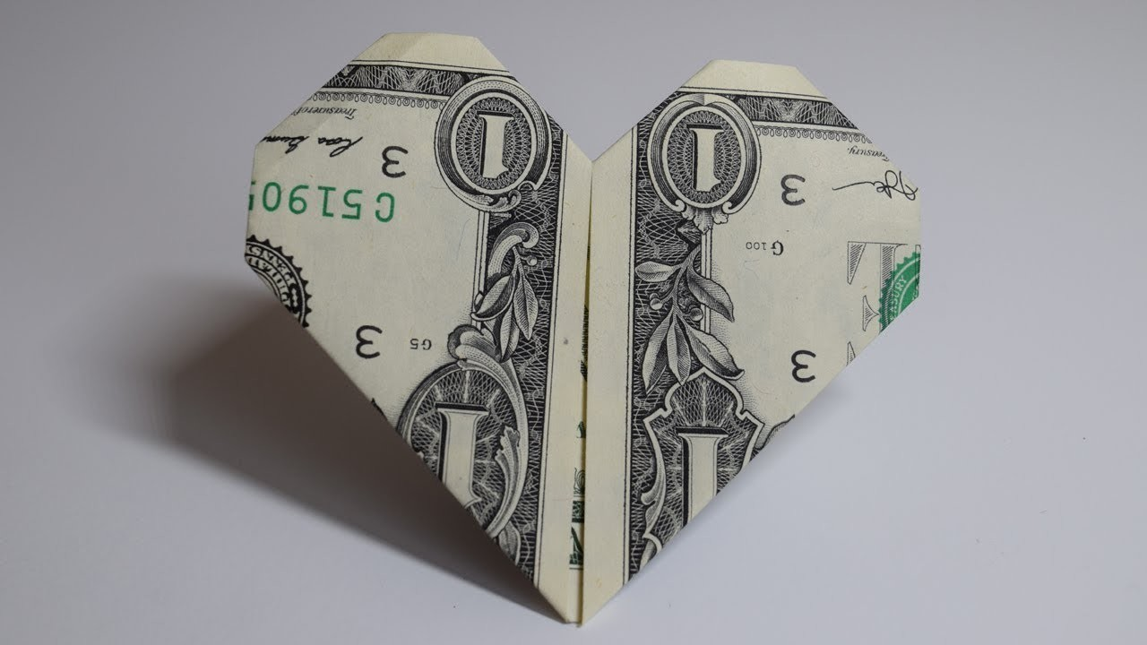 How to make an easy Origami Tutorial - Paper Heart by Money