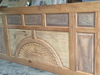 How To Make And Assemble A Large Wooden Main Door - Heavy Woodworking Work
