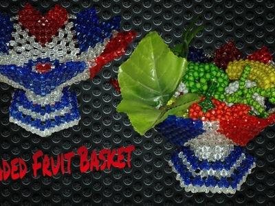 How To Make Beaded Fruit Basket||পুতির ফলের ঝুড়ি||مطرز سلة الفاكهة