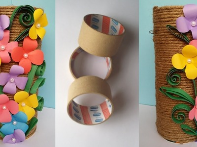 How to Make Best out of waste Flower vase !!! Jute.Twine  Flower Vase !!!! Unique