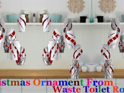 How to make Christmas ornaments from  toilet paper roll |Christmas tree decoration idea -diy