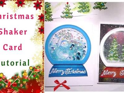 How to make Christmas Shaker Cards : Tutorials