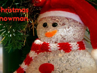HOW TO MAKE CHRISTMAS SNOWMAN USING WASTE MATERIALS | CHRISTMAS DECORATING IDEAS