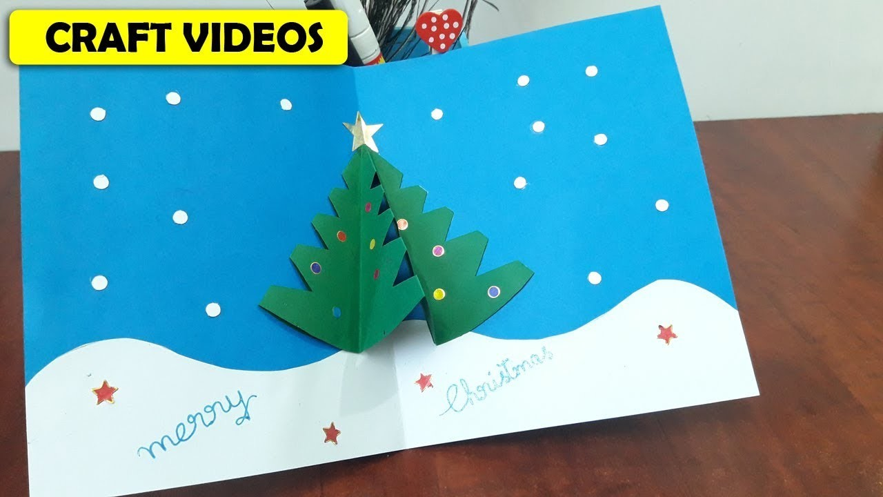 How To Make Christmas Tree Cards At Home Step By Step