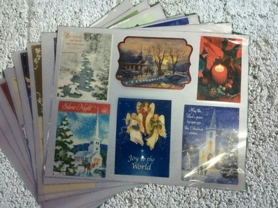 How to make diy Placemats with Christmas Cards.