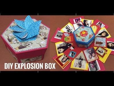 How to make explosion box    Hexagon explosion box