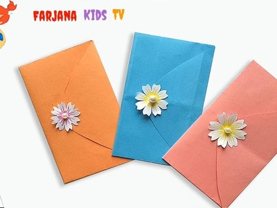 How to make Folded Heart Envelope.easy craft for kids