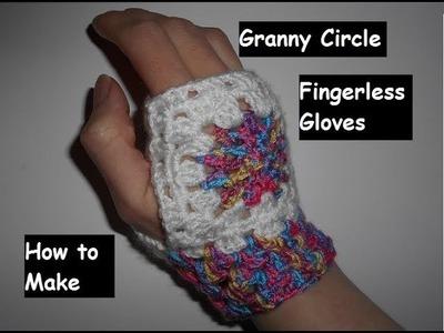 How to Make Granny Circle Crochet Fingerless Gloves