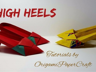 How to make HIGH HEELS Origami ( Giầy Cao Gót)  ???? Tutorial By OrigamiPaperCraft
