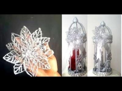 HOW TO MAKE HOT GLUE CHRISTMAS DECORATIVE ORNAMENT.DIY CHRISTMAS CRAFTS